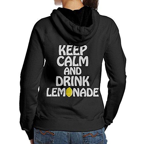 JingleBoo Keep Calm And Drink Lemonade Women's Hoodies Printed On The Back S (Bag Messenger Canvas Zelda)