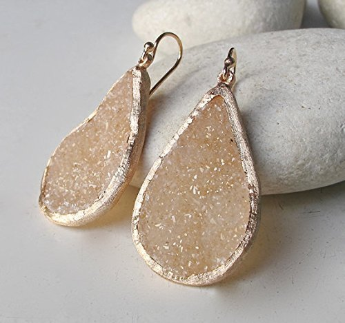 druzy-sparkly-earrings-rose-gold-earrings-statement-earrings-bridal-earrings-ooak-earrings-drop-and-