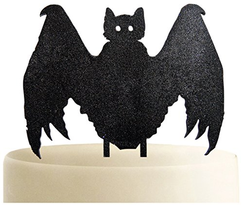 aMonogram Art Unlimited 94326P Bat Halloween Wooden Cake Topper, 6