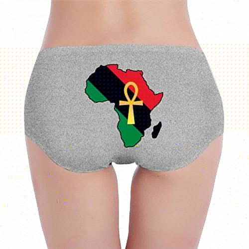 Antonia Bellamy Funny Ankh African Colored Africa Women Comfort Hipster Panty Underwear Panties by Antonia Bellamy