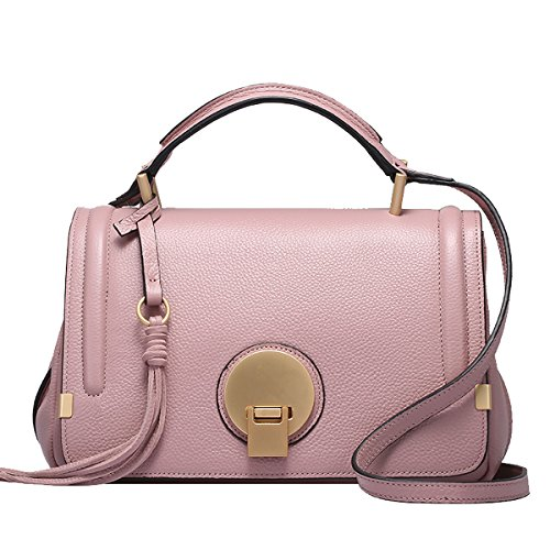 Soft Dissa Shoulder Multiple Handbags Q0748 pink Bag Leather Women Pockets qAnaCAEH