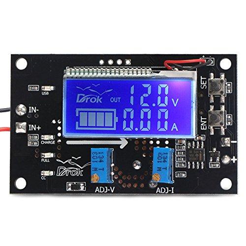 DROK DC Voltage Regulator Adjustable Volt Reducer Transformer Stabilizer 5V-23V 9V 12 V Step Down to 0-16.5V 6V 5 V Power Supply Board 3A with LCD Display 180077 Buck Converter 12v to 5v