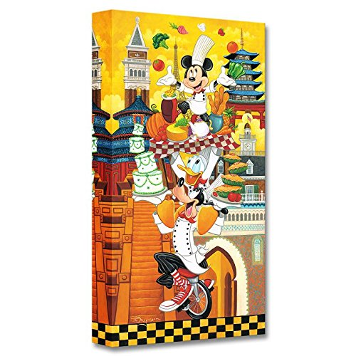 """A World of Flavor"" Limited edition gallery wrapped canvas by Tim Rogerson from the Disney Fine Art Treasures collection; with COA."