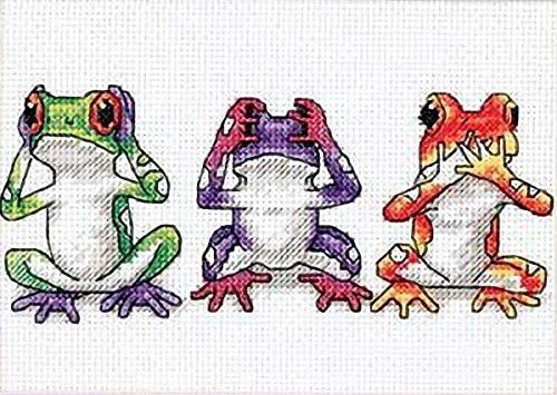 Dimensions Needlecrafts Counted Cross Stitch, Tree Frog Trio - Frog Needlepoint