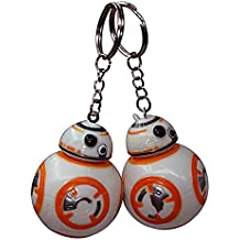 2PCS Cilected Star Wars BB-8 Figure Keychain Keyring 2.4 inch Gift