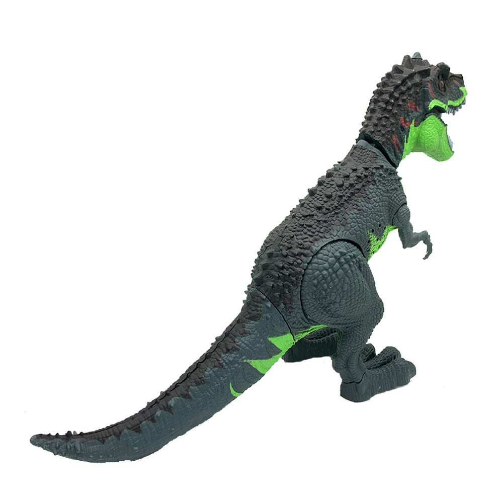 SEOINS T-Rex Walking Dinosaur Toy with Spray Water Mist,Realistic Roar and Ligh,Dinosaur Toy for Kids(Green) by SEOINS (Image #5)