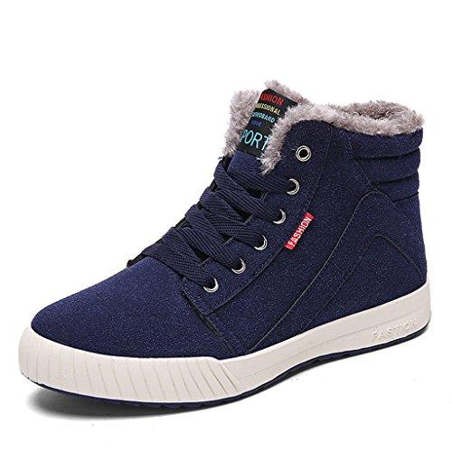 Eagsouni® Bottes Hiver Bleu Chaudes Neige Lacet Fourrure De Cheville Chaussures Sport Homme rqEtxr