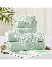 Amrapur Overseas Amrapur Overseas Artesia Damask 6 Piece Reversible Yarn Dyed Jacquard Towel Set ' 1