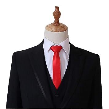 XJIUER corbata Personalidad Simple Moda Poliéster Seda Corbata ...