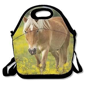 Horse4 Waterproof Reusable Neoprene Lunch Bags With Adjustable Shoulder Strap For Men Women Adults Kids Toddler Nurses