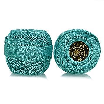 Amazoncom Crochet Cotton Thread With Metallic Yarn Size 20 For