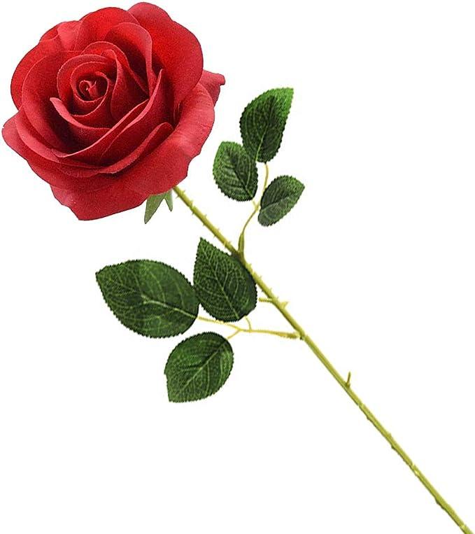 Bumen kunstblumen 1 Zweig 7 K/öpfe Seidenrosen tischdeko Rose Gef/älschte Blumen for Hochzeit Kunstblume Blumenstrau/ß Unechte Blumen Braut Hochzeitsblumenstrau/ß f/ür Haus Garten