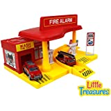 Little Treasures Super Service Fire Station Fire Alarm Emergency Rush Toy Set
