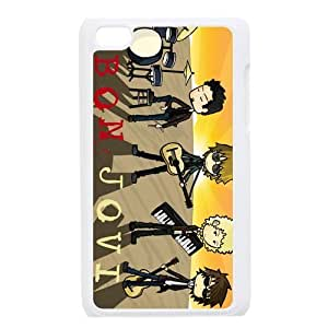 STYLE-UM@ Case for ipod touch 4, Plastic ipod touch 4g Cover, Jon Bon Jovi ipod touch 4 Case, Covers for ipod touch 4th (White or Black)