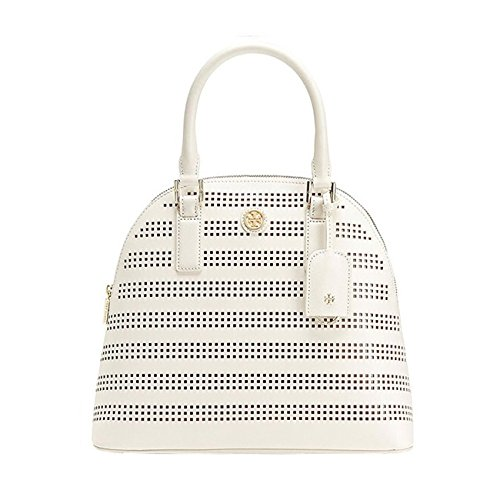 Tory Burch Robinson Perforated Dome Satchel - Birch/Luggage