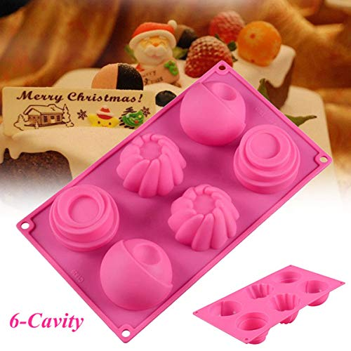 6 Cavity Silicone Mousse Cake Mold Chocolate Dessert Pastry Baking Tool Mould