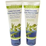 Remedy with Olivamine Dimethicone Skin Protectant Barrier Cream 4 oz Tube (Pack of 2)