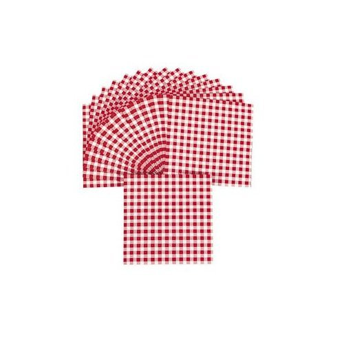 Red Gingham Luncheon Napkins - Tableware & Napkins ()
