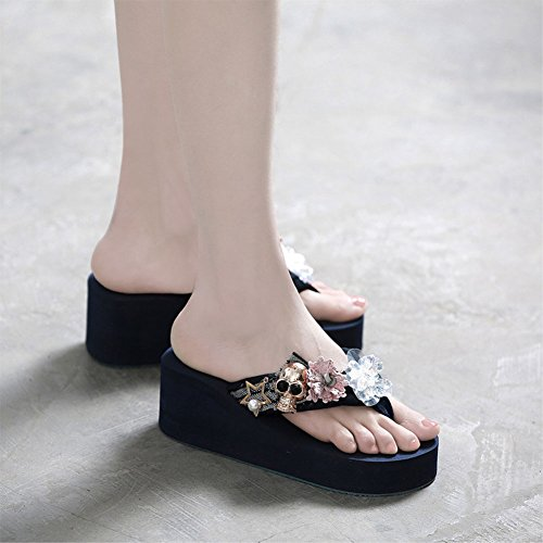 Blue Sandalias Zapatillas De Mujer STHY Chanclas Verano Zapatillas De Y Playa Moda Zapatillas wC7St