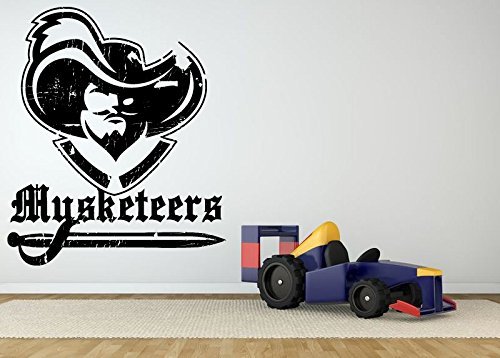 Wall Room Decor Art Vinyl Sticker Mural Decal Musketeers Emblem Logo Big AS1528]()