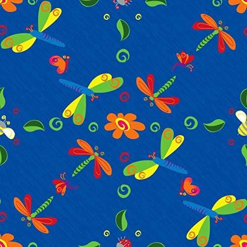 Kid Carpet FE761-34Y Dragonflies Nylon Area Rug 6' x 9' Multicolored [並行輸入品] B07HLHT6KY