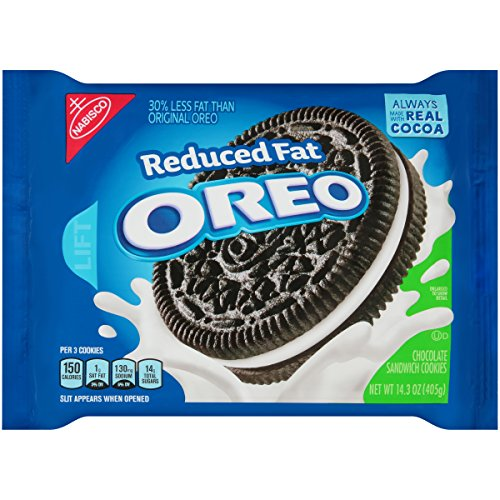 OREO Reduced Fat Chocolate Sandwich Cookies, 1 Resealable 14.3 oz Pack