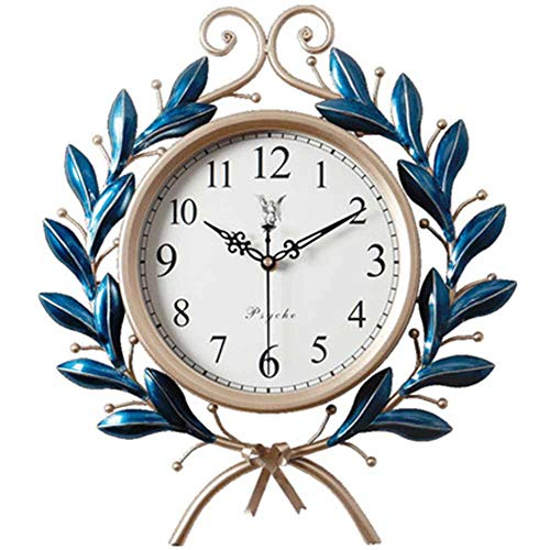 Artwork 16 Inch American Retro Creative Fashion Clock Clock Wall Clock Modern Minimalist Home Living Room Personality Quartz Clock Handmade Iron Crafts Olive Branch Symbol Peace and Harmony Home