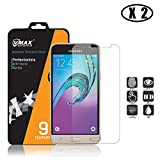 [2-Pack] Galaxy J3 (2016) Tempered Glass Screen Protector InvisibleShield for J3 (2016)