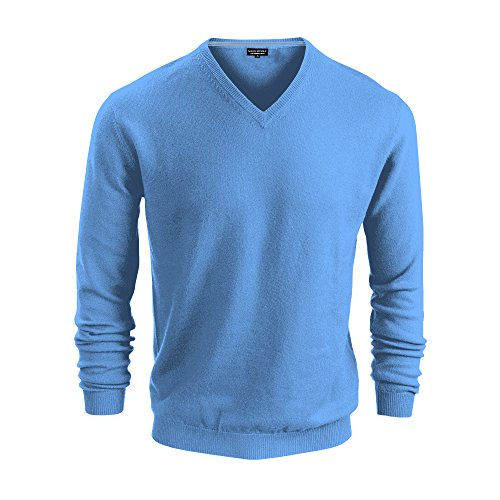 Luxe Sweater V-neck (Banana Republic Mens Premium Luxe Yarn V Neck Sweater (Sky Blue, Medium))