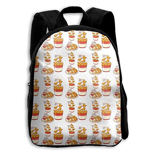 Delicious Fried Chicken Menus Boys Girls Popular Printing Toddler Kid Pre School Backpack Bags Lightweight Travel