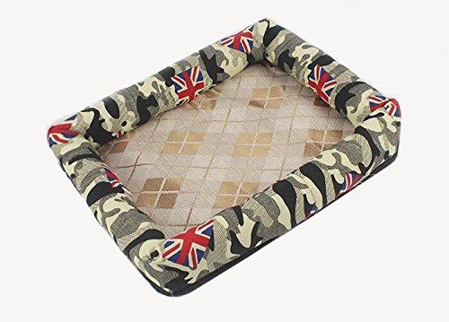marche online vendita a basso costo Xinjiener Camouflage Rice Flag Summer Sleeping Mat Dog Dog Dog Nest Tappetino per animali domestici  miglior reputazione
