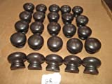 Twenty-Five (25) New Factory Maple Finished KNOBS Various Colors 1 1/4'' X 1 1/2'' (Graphite GR) …