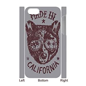 3D Kweet Made in California IPhone 4/4s Cases for Teen Girls, Phone Case for Iphone 4s [White]