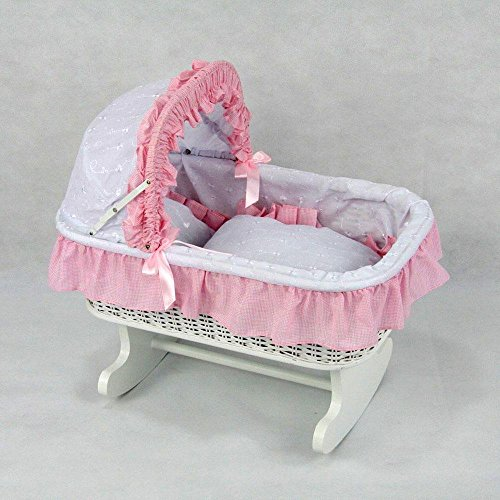 Regal Doll Carriages Susanne Rocking Bed by Regal Doll Carriages