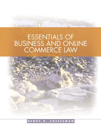 Essentials of Business and Online Commerce (Essential Law Life)