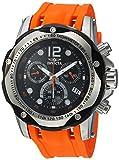 Invicta Men's 'Speedway' Swiss Quartz Stainless Steel and Polyurethane Casual Watch, Color:Orange (Model: 20072)