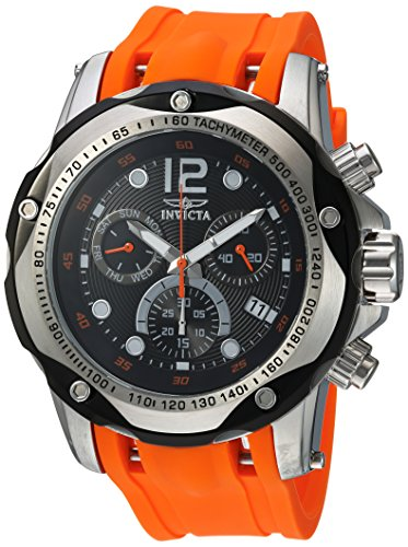 Invicta Speedway Swiss Chrono Watch - Invicta Men's 'Speedway' Swiss Quartz Stainless Steel and Polyurethane Casual Watch, Color:Orange (Model: 20072)