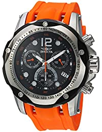 Men's 'Speedway' Swiss Quartz Stainless Steel and Polyurethane Casual Watch, Color:Orange (Model: 20072)
