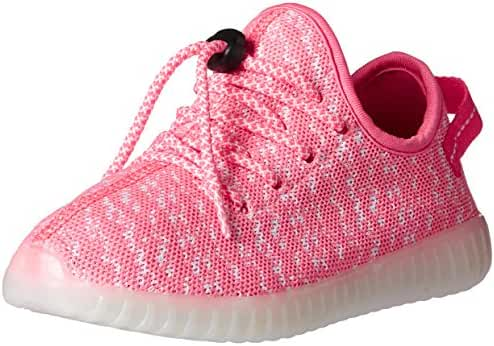 Fashion LED Shoes Flyknit Light Up Sneaker with USB Charger for Adults/Kids
