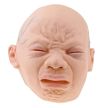 93b8d0ee913 Buy Funny Halloween Scary Crying Baby Head Mask Cosplay Props Adult Party  Masks Online at Low Prices in India - Amazon.in
