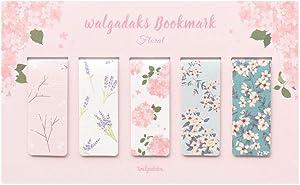 Monolike Magnetic Bookmarks Floral, Set of 5