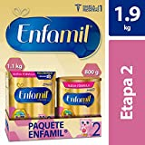Fórmula Láctea Infantil, Enfamil Premium Etapa 2 para Bebés de 6 a 12 meses, Paquete de 1.9 kg