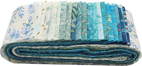 Bali Batiks Beach Glass Bali Poppy 20 2.5-inch Strips Jelly Roll Hoffman Fabrics BPP-661-BEACH (Hoffman Bali Batik Quilt Fabric)