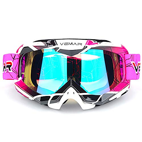 Polarized Sport Motorcycle Motocross Goggles ATV Racing Goggles Dirt Bike Tactical Riding Motorbike Goggle Glasses, Bendable Windproof Dustproof Scratch Resistant Protective Safety Glasses -