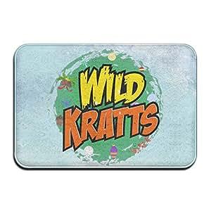 Kratts salvajes rectangular al aire libre Felpudo