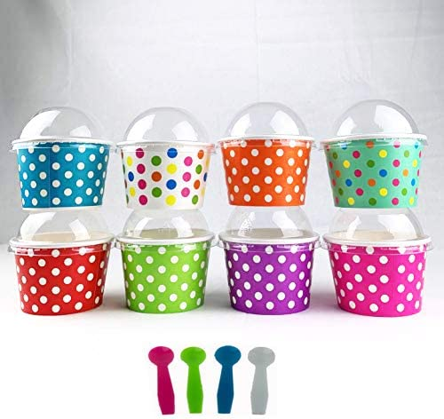 Worlds Paper Ice Super Special SALE held Cream Cups With Dome Hole S And No Popular brand Lids Plastic