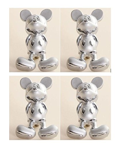 4 Mickey Mouse Drawer Pulls - Zinc Alloy - Cabinet Knobs - - Amazon.com
