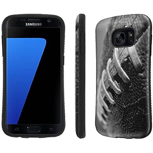 Galaxy [S7] Tough Designer Case [SlickCandy] [Black Bumper] Ultra Shock Absorbent - [FootBall] for Samsung Galaxy S7 / GS7 Sales