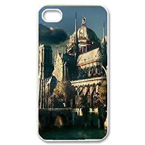 IPhone 4/4s Cases, Girl Design Protective Angels Castle Cases for IPhone 4/4s {White}