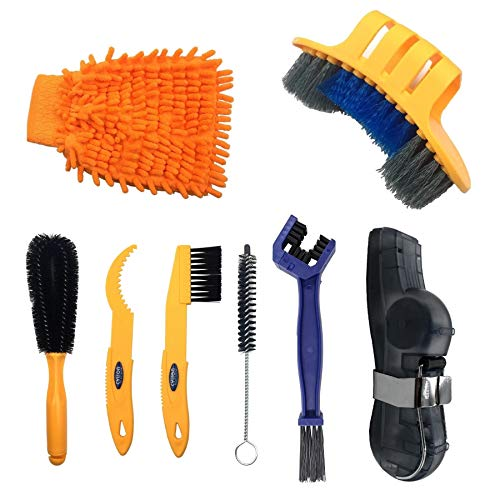 Anndason 2019 Latest Precision Bicycle Cleaning Brush Tool Suitable for Mountain, Road, City, Hybrid,BMX Bike and Folding Bike (Style 4)